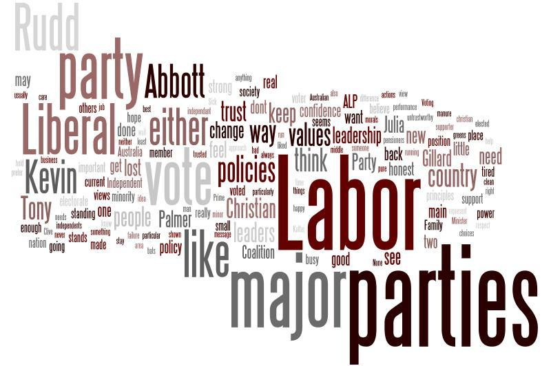 This wordle shows the reasons given by electors for supporting Independents/ Others.