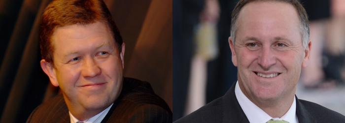 Prime Minister John Key and Opposition Leader David Cunliffe