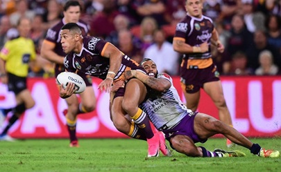 Brisbane Broncos hold off 'Storm surge' to lead again for NRL support