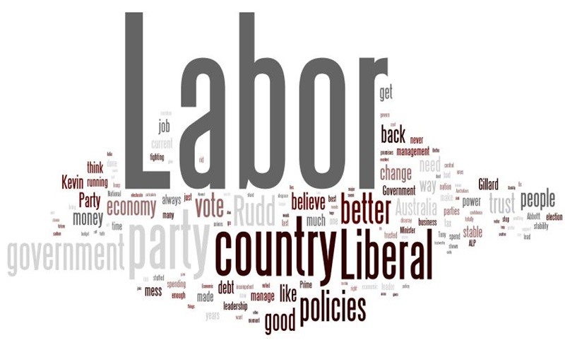 This wordle shows the reasons given by electors for supporting the L-NP.