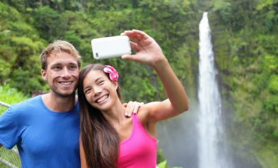 waterfall-couple