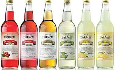 row-of-bickfords-cordial-bottle