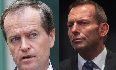 Opposition Leader Bill Shorten & Prime Minister Tony Abbott