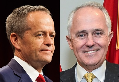 Opposition Leader Bill Shorten and Prime Minister Malcolm Turnbull