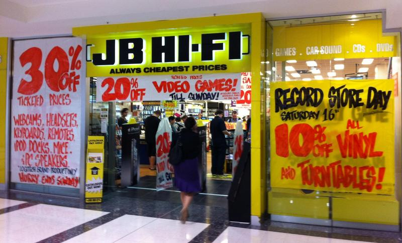 JB Hi-Fi tops Furniture/ Electrical store satisfaction ahead