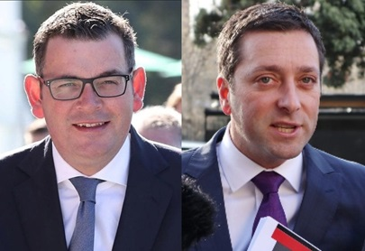 Premier Daniel Andrews cf. Opposition Leader Matthew Guy