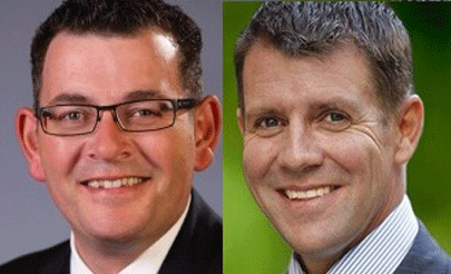 New South Wales Premier Mike Baird and Victorian Premier Daniel Andrews