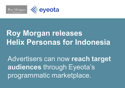 Roy Morgan - Eyeota Indonesian partnership
